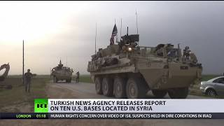 Turkish media reveals American base locations in Syria - RUSSIATODAY