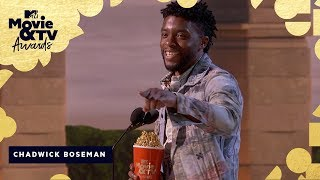 Chadwick Boseman Wins Best Hero & Honors James Shaw Jr. | 2018 MTV Movie & TV Awards - MTV