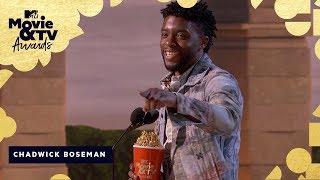 Chadwick Boseman Wins Best Hero & Honors James Shaw Jr. | 2018 MTV Movie & TV Awards - MTV
