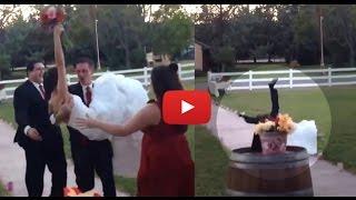 بالفيديو.. عروس تتعرض لـ