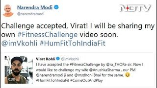 """Challenge Accepted,"" PM Modi Tells Virat Kohli, With A Promise - NDTV"
