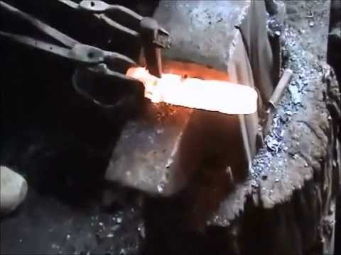 Forging a Ronin Elite Laminated Blade - How a Samurai Sword is Forged Part 1