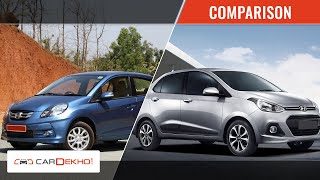 Hyundai Xcent Vs Honda Amaze | Video Comparison | CarDekho.com