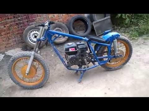 Самодельный мотоблок из двигателя мотоцикла