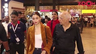 Alia Bhatt & Mahesh Bhatt spotted at the Mumbai Airport - ZOOMDEKHO