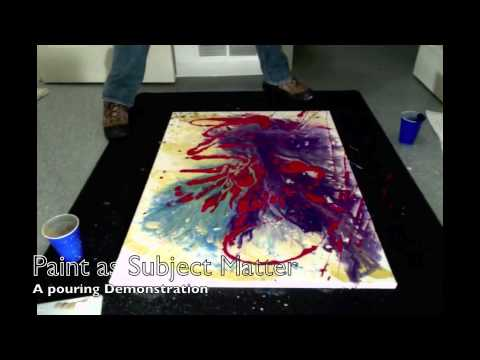 Acrylic Pouring Technique Demo #1- Paint and Color Explosion