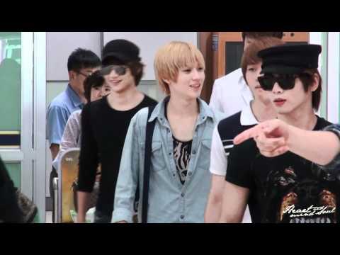 110802 SHINee (Taemin focused) fancam @ Gimpo Airport