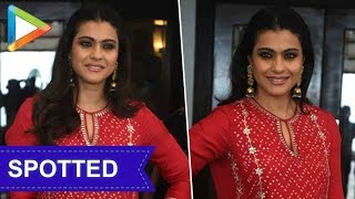 SPOTTED: Kajol during the promotions of Helicopter Eela - HUNGAMA