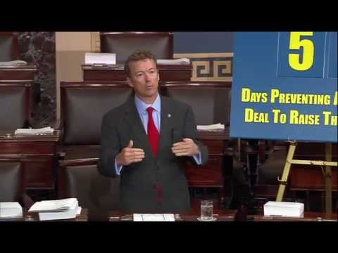 Sen. Paul Opposes the Use of Procedural Tricks to Rais Taxes & Increase Debt Limit- 5/21/2013