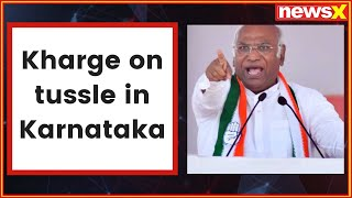 Mallikarjun Kharge on tussle in Karnataka: BJP trying to poach, using ED & CBI to threatens our MLAs - NEWSXLIVE
