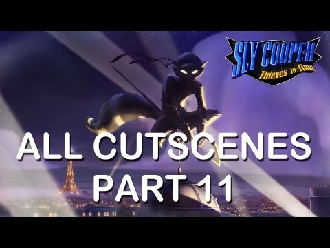 "Sly Cooper Thieves in time All cutscenes part 11 PS3 PS Vita HD ""sly cooper 4 all cutscenes"""