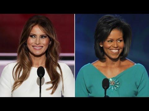Porównanie przemówień Michelle Obamy z 2008 roku i Melanii Trump z 2016.
