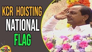 Telangana CM KCR Hoisting National Flag at Golkonda Fort | 72nd Independence Day | Mango News - MANGONEWS