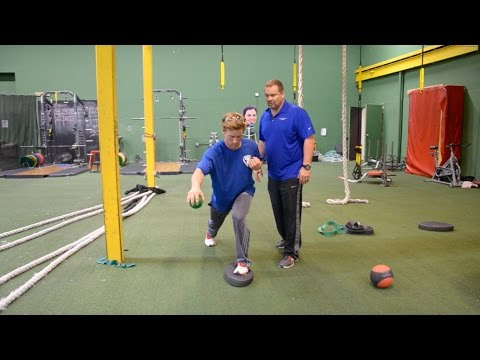 Balanced Weighted Ball Drops - Baseball Injury Prevention Exercise