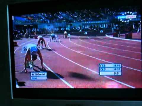 EC U23 4x100m final 2011