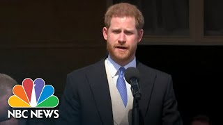 Watch Prince Harry And Meghan Markle Make First Appearance Since Wedding | NBC News - NBCNEWS