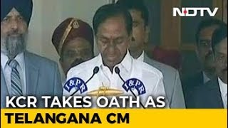 KCR Takes Oath As Telangana Chief Minister For Second Time - NDTV