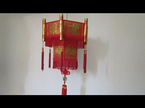 How to make the Chinese New Year Lantern using Hong Bao Paper  (怎么用新年红包做爆竹)