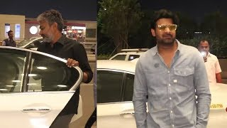 Prabhas SPOTTED With SS Rajamouli At Mumbai Airport | Prabhas New Look | TFPC - TFPC