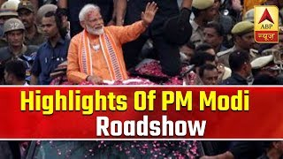 25 highlights from PM Modi's roadshow in Varanasi - ABPNEWSTV