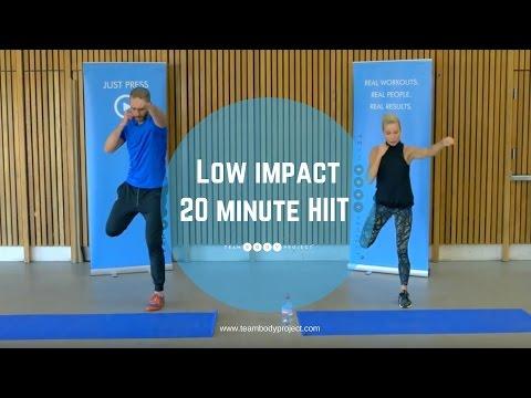 Low impact 20 minute HIIT workout - beginner/intermediate (H20 plan workout 1 )