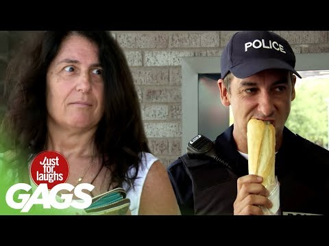 Hungry Cop Eats Stranger's Food