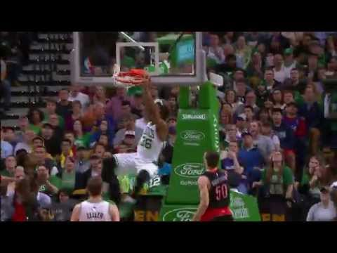 Marcus Smart Bangs Home the Oop from Turner