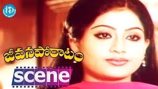 Jeevana Poratam Movie Scenes - Vijayashanti  Agrees To Marry Sarath Babu || Rajinikanth - IDREAMMOVIES