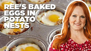 Ree's Baked Eggs in Potato Nests | Food Network - FOODNETWORKTV