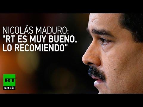 Maduro: Venezolanos deben ver RT para tener alternativa informativa