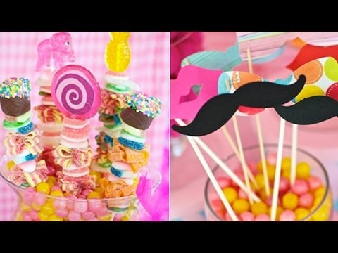 ¿Cómo hacer arreglos de mesas con dulces? / How to arrange tables with candy?