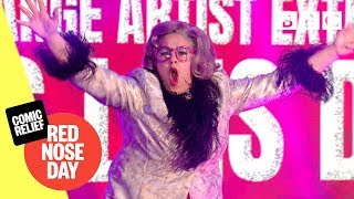 Miss Lois Duval performs Magic Goes Wrong - Comic Relief 2019 - BBC