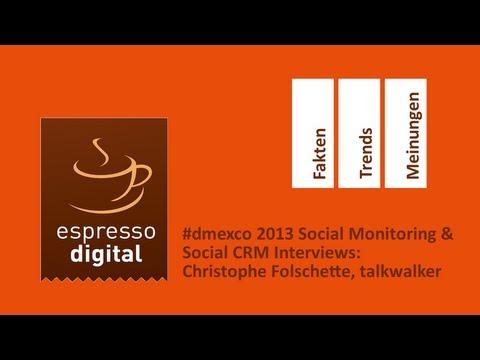 #dmexco Social Monitoring & Social CRM Interviews: Christophe Folschette, talkwalker