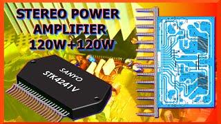 Amplificador de audio 120W + 120W con STK4241V