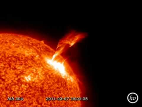 Spectacular M-Class solar flare March 8th, 2011