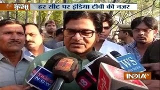 SP leader Ramgopal Yadav cast vote - INDIATV