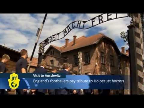 Avram Grant oprowadzał piłkarzy reprezentacji Anglii po obozie Auschwitz-Birkenau