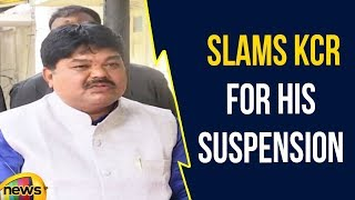 MLC Ramulu Naik Slams KCR For His Suspension From TRS Party   Mango News - MANGONEWS