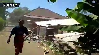 Earthquake strikes Lombok island in Indonesia, panic ensues - RUSSIATODAY