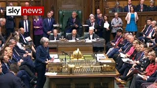 Brexit crisis: Theresa May addresses MPs ahead of vote - SKYNEWS
