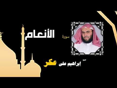 القران الكريم بصوت الشيخ إبراهيم على عكر |  سورة الأنعام