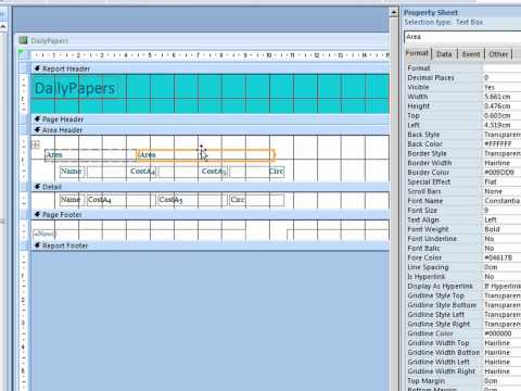 Access 2007: Creating Access Reports
