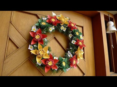 #4 - Como fazer base de guirlanda - Guirlanda Natal