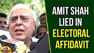 Kapil Sibal Addresses Media After Meeting with EC on Amit Shah Lied in Electoral Affidavit - MANGONEWS