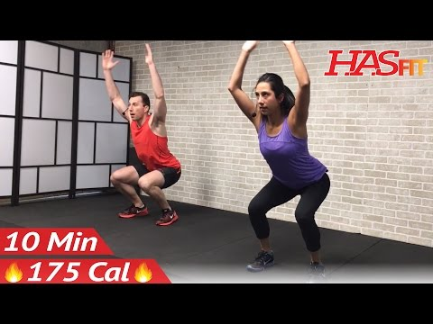10 Minute Cardio Workout : HIIT Home Workout without Equipment for Fat Loss & Strength Training