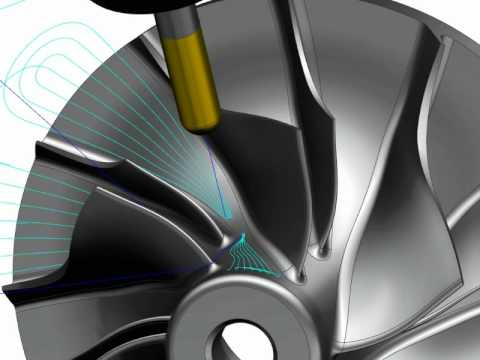 NX CAM - Demonstration of NX Turbomachinery Milling software