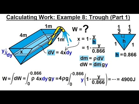 Calculus 2: Apllications - Calculating Work (9 of 16) Calculating Work Example 8: Trough (Part 1)