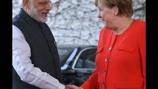 Modi meets German Chancellor Angela Merkel on way back from Britain - ABPNEWSTV