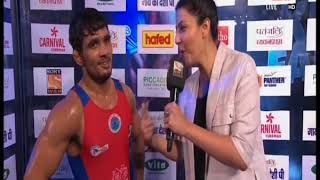 PWL 3 Day 11: Nitin Rathi speaks over victory against Shravan at Pro Wrestling League 2018 - ITVNEWSINDIA