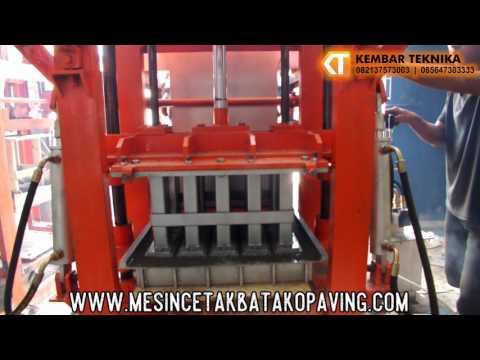 Video Mesin Cetak Paving Hidrolik Otomatis